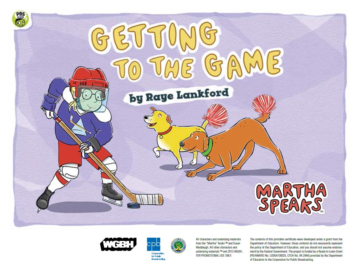 Getting to the Game (PDF) | Martha Speaks