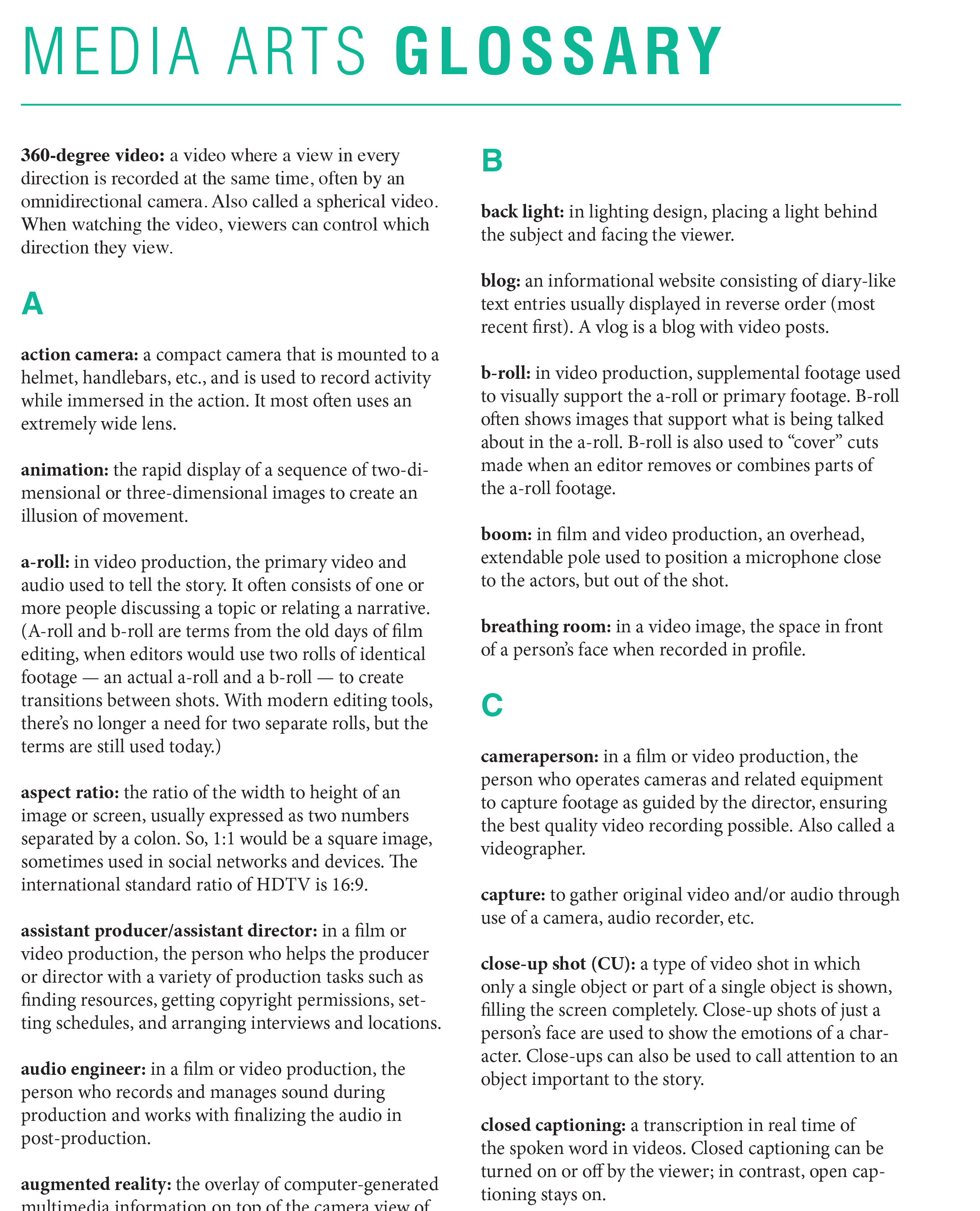 Educator Materials | Media Arts Toolkit | PBS LearningMedia