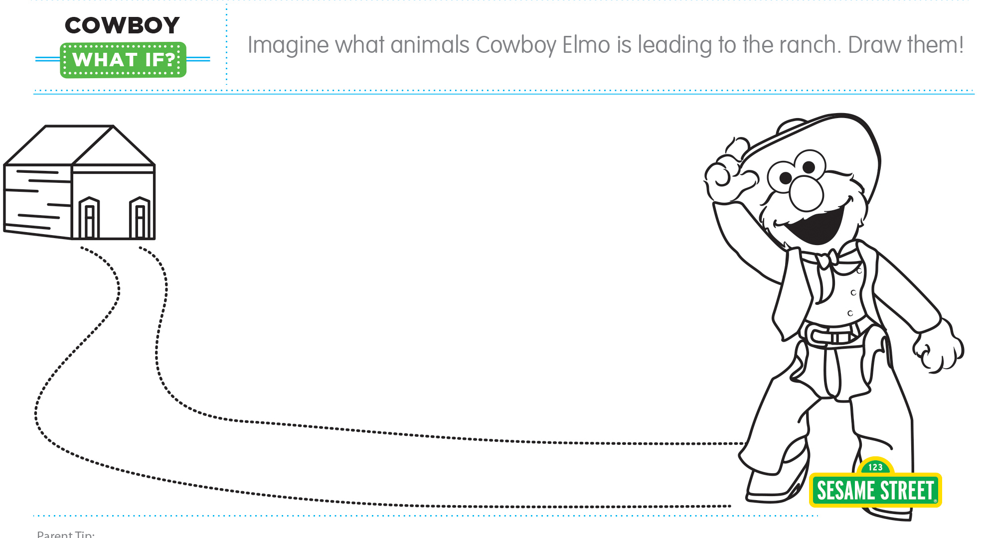 "Elmo the Musical: Cowboy ""What If"" Printable 