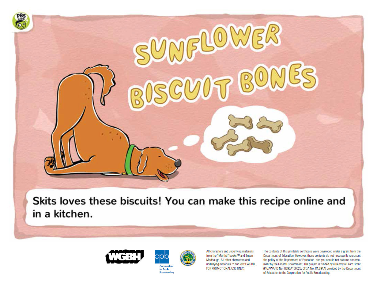 Sunflower Biscuit Bones (PDF)