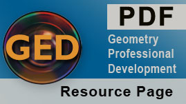 Geometry Professional Development Online Course Glossary