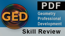 Perimeter, Area, and Volume: GED Formulas Page Skill Review