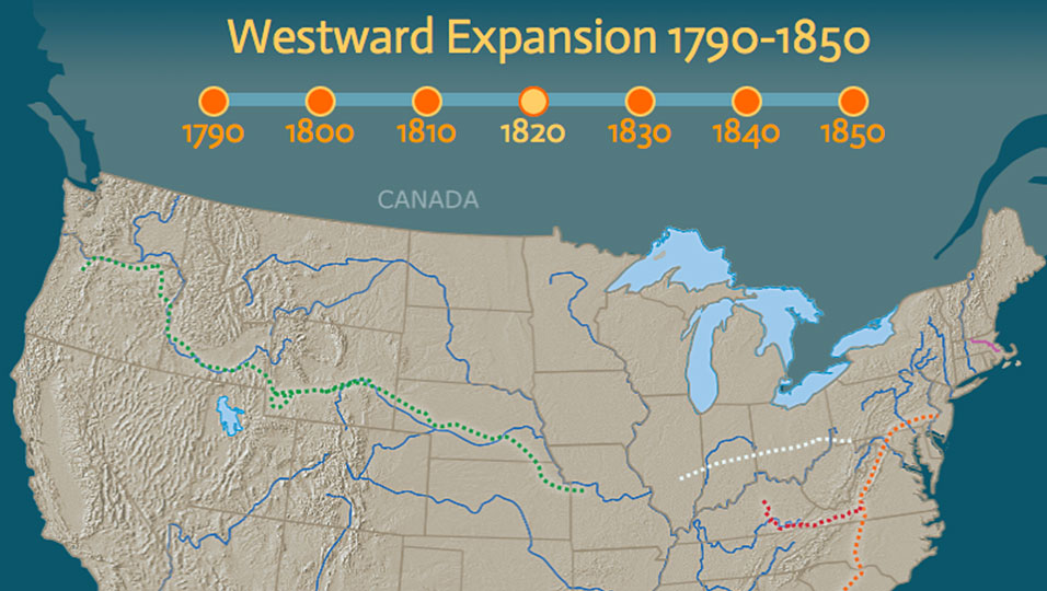Westward Expansion 17901850 Pbs Learningmedia - Map-of-us-during-westward-expansion