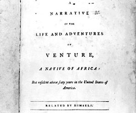 Cover of Narrative of Venture Smith