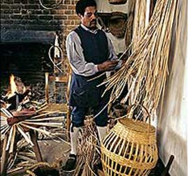 Recreation of Enslaved Man Working