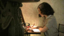 Anne Writing at Her Desk
