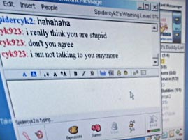 Online Chat on a Computer Screen