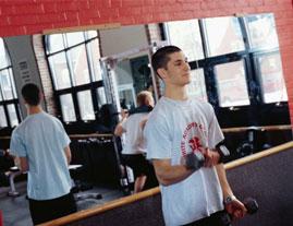 Teen Boy Exercising