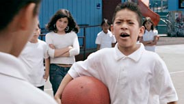 Bully Faces Moises in the Schoolyard