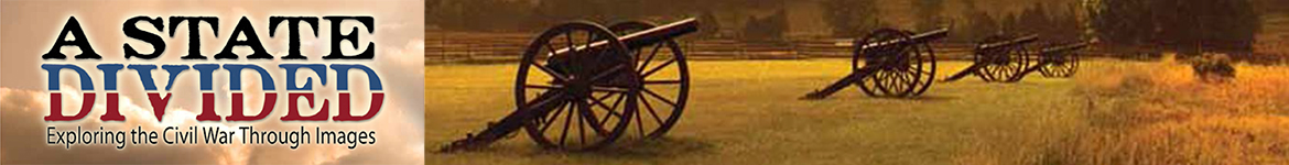 banner featuring the collection title and a row of civil war canons sitting in a field in the evening