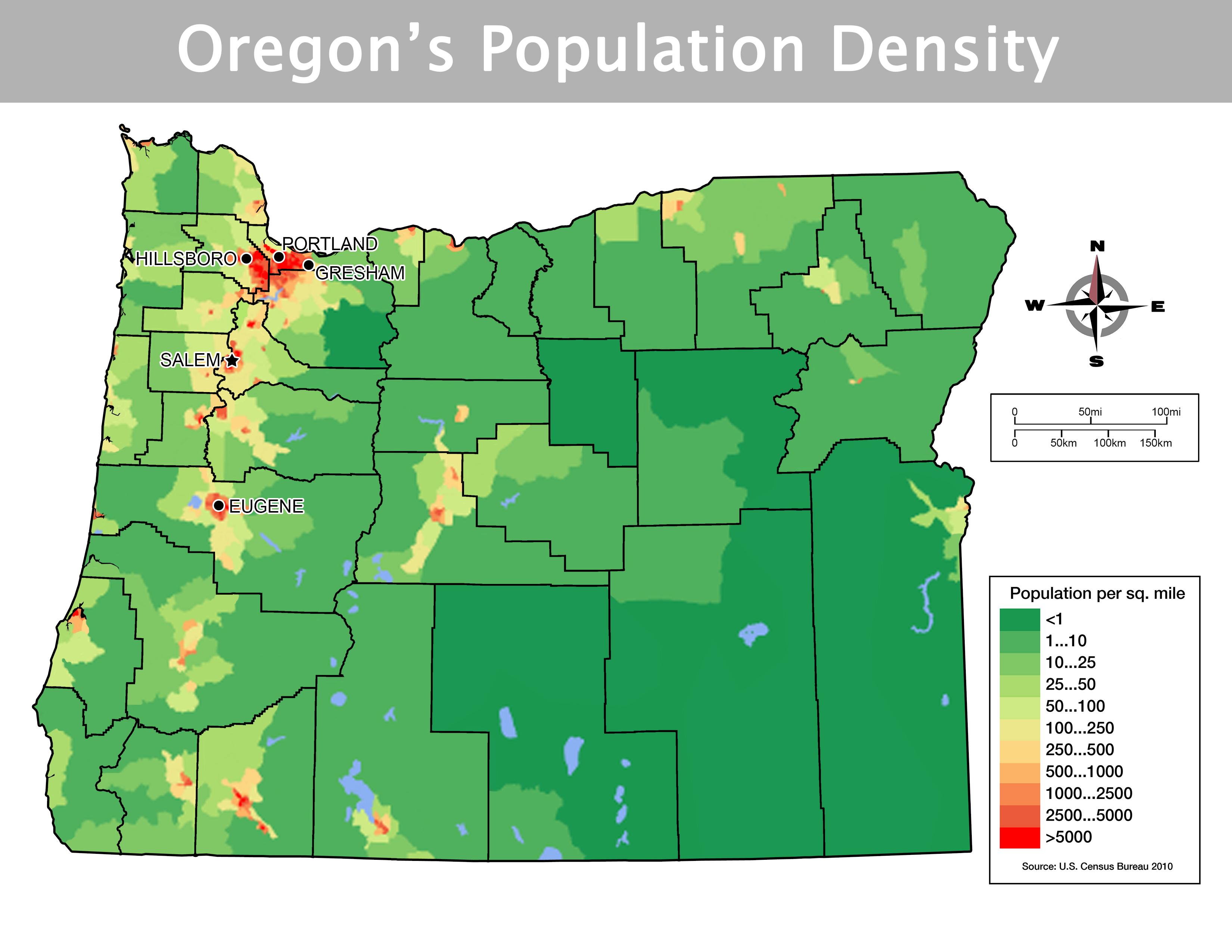 Oregon   Activity 1 3: How Does Terrain Influence Oregon's