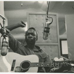 John Lee Hooker in the recording studio