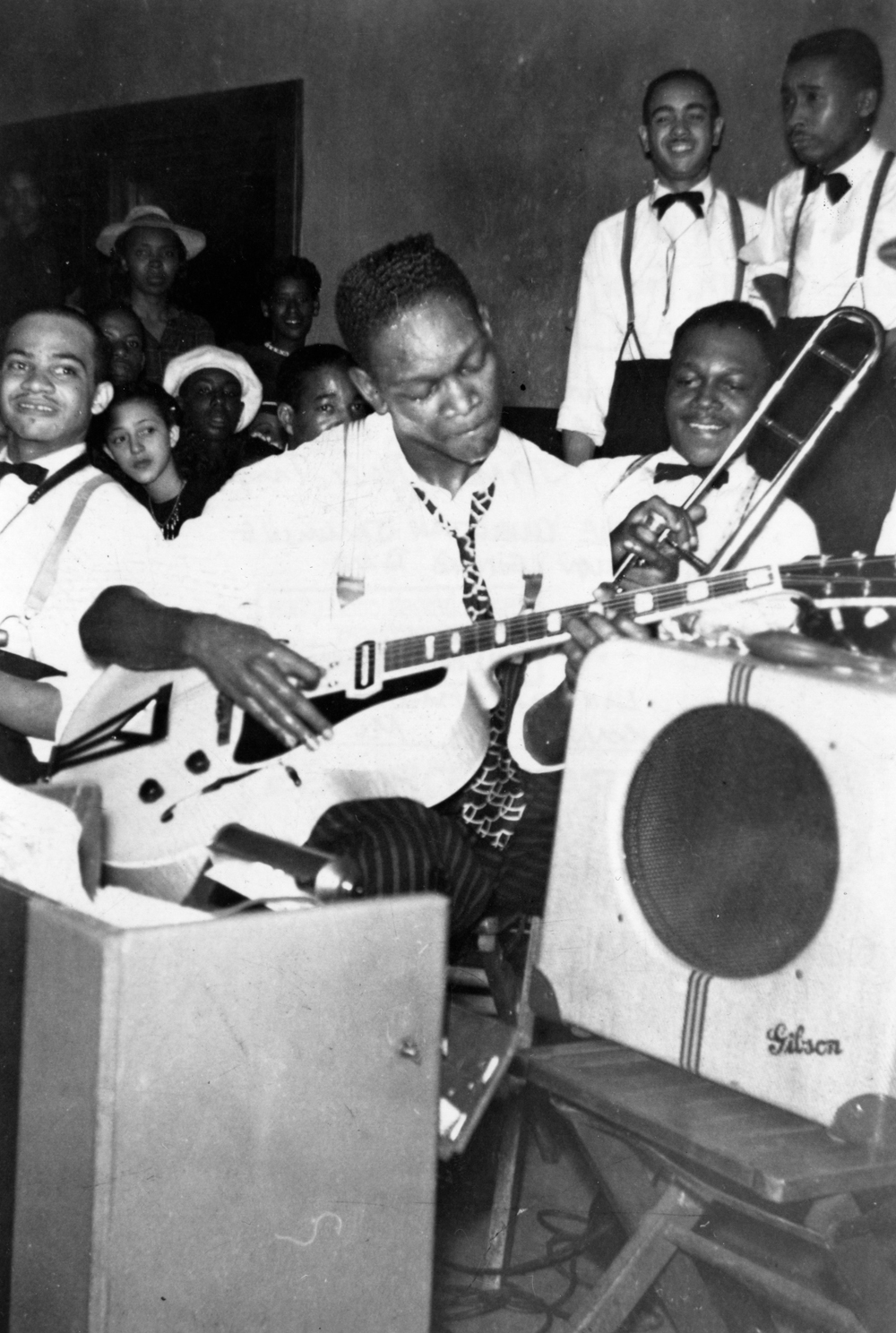 Charlie Christian Playing Guitar with the Harlan Leonard Band, Lincoln Hall, Kansas City Missouri 1940
